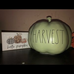 Rae Dunn mint colored medium Harvest pumpkin